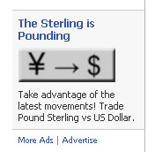 Sterling advert from Facebook